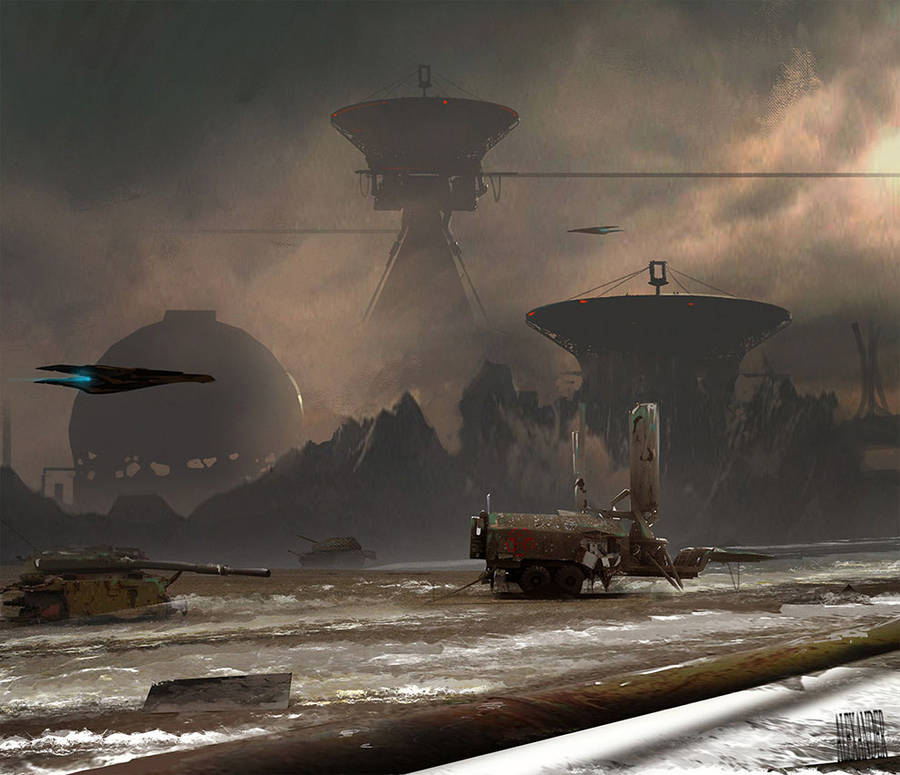 Futuristic Digital Paintings of an Apocalyptic World