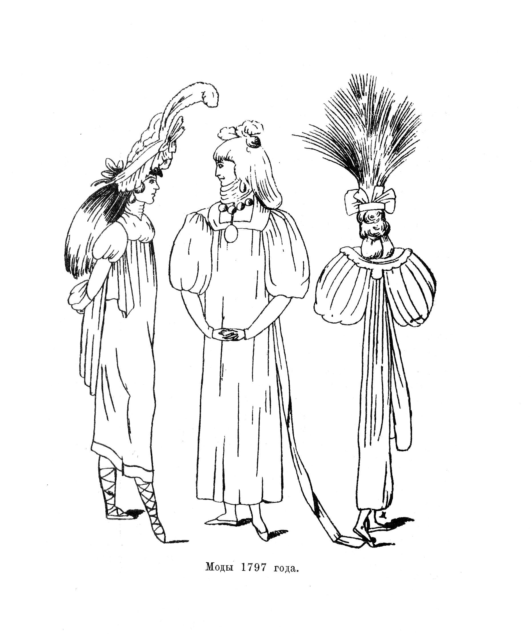 Моды 1797 года