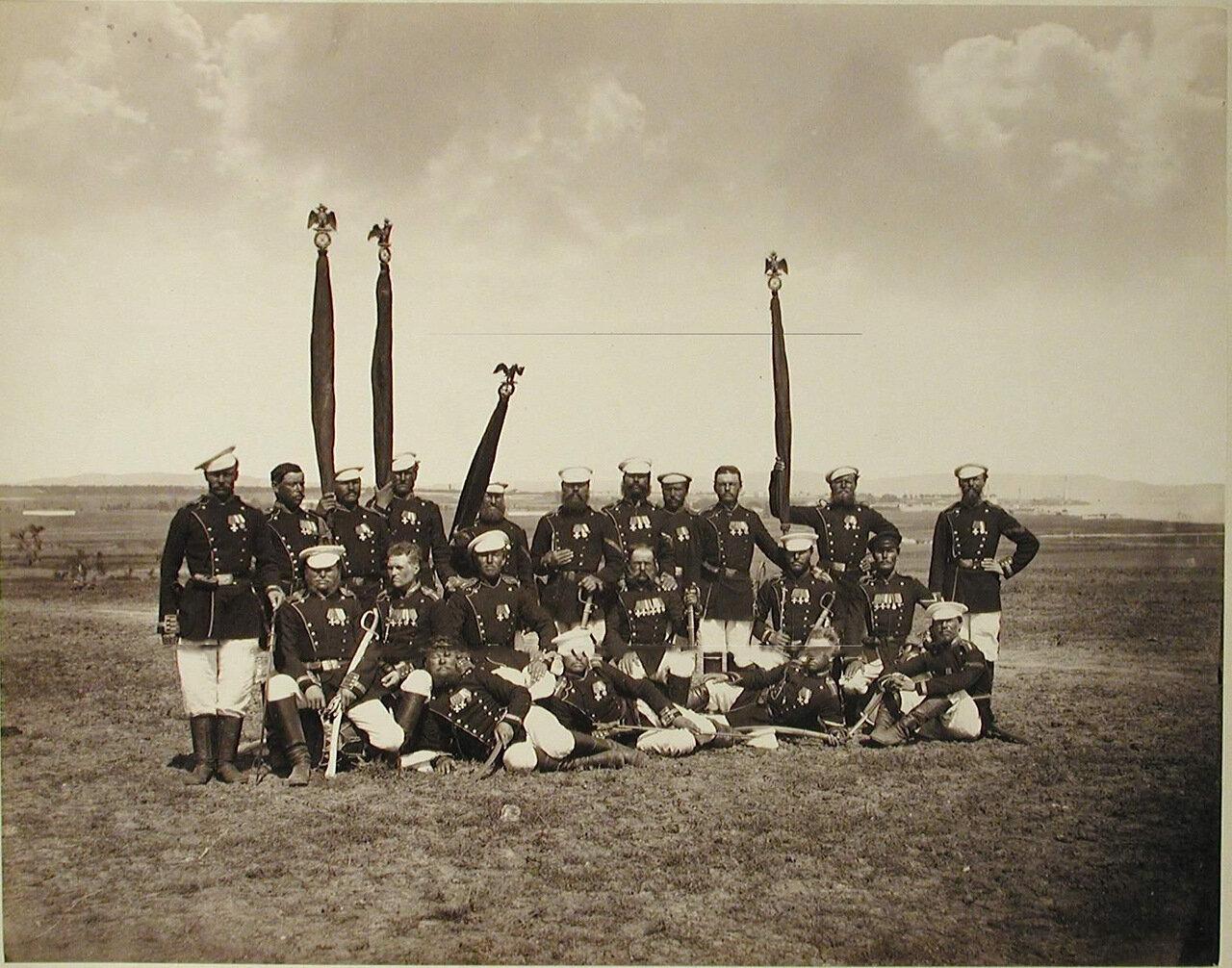 07. Группа фельдфебелей и знаменосцев Лейб-гвардии Егерского полка. Турция. Сафракиой