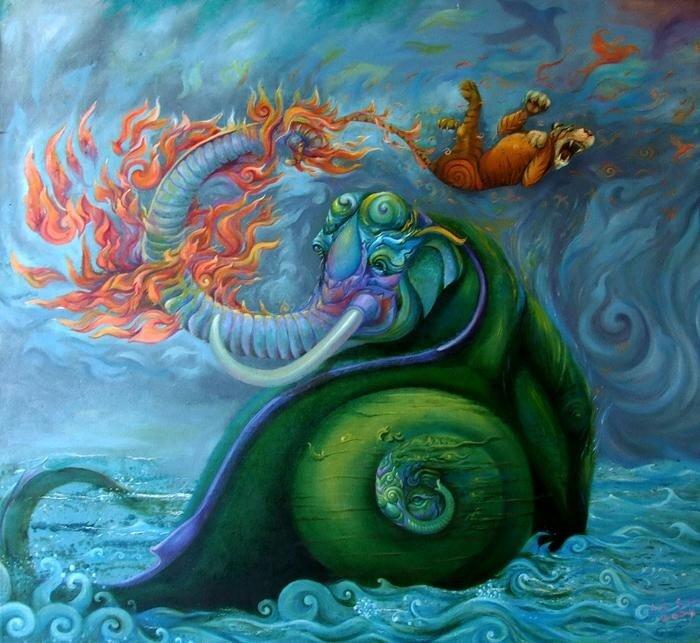 Таиландский художник Kris Surajaroenjai