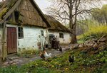 "Bromolle Farm with Chickens1924Oil on canvas64.77 x 44.45 cm(25½"" x 17½"")Private collection"
