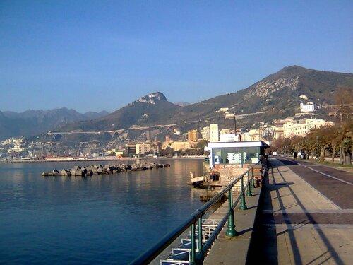 Salerno, Italy, seagulls