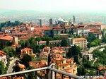 Бергамо с высоты птичьего полета (Италия)