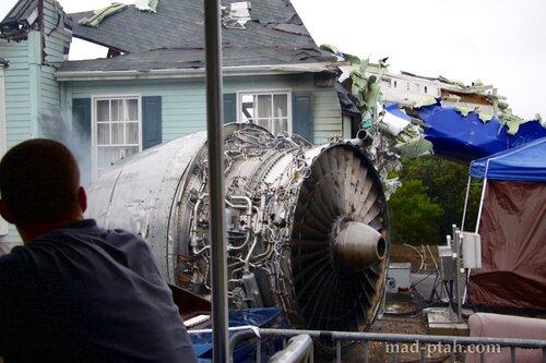 Лос-Анжелес, студия юниверсал, Universal Studio, LA, Los-Angeles, война миров, авиакатастрофа