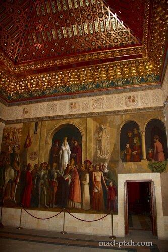сеговия, испания, алькасар в сеговии, роспись дворца