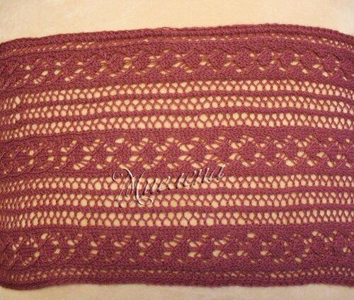 вязаные шарфы-хомуты спицами схема.