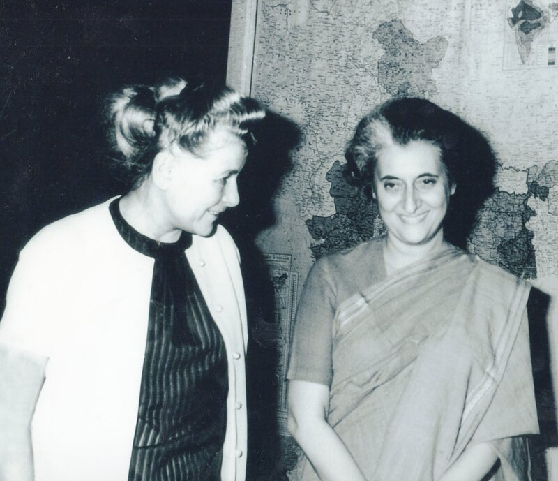 Министр культуры СССР Екатерина Алексеевна Фурцева и Премьер-министр Индии Индира  Ганди.