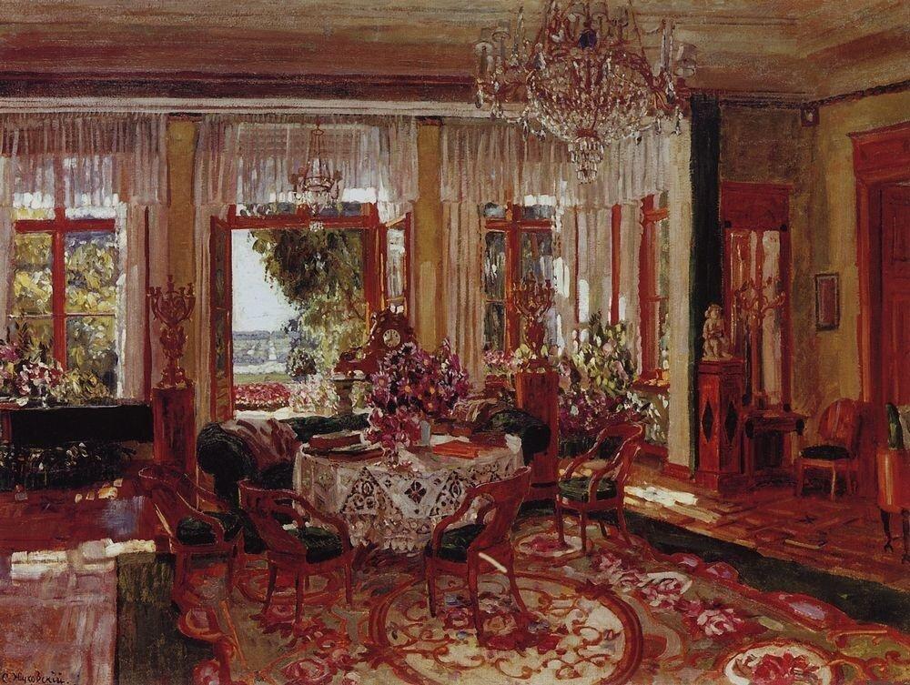 С. Жуковский. Большая гостиная в Брасове