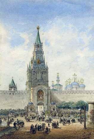Василий Семёнович САДОВНИКОВ (1800—1879). 1856.  Бумага, карандаш, акварель