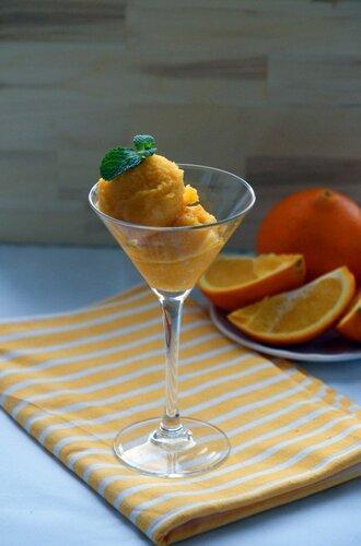 Сорбет из апельсинов с добавлением Grand Marnier