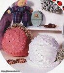 Летние... шапки из кролика. детские шапки крючком.  Шапки 2010 зима...