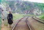 Транс-Сибирская железная дорога, около города Усть-Кут. 1910.