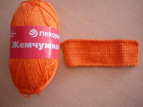 0 45775 99faf572 L Оранжевый жакет, вязаный спицами