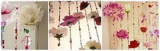 Занавеска с цветами