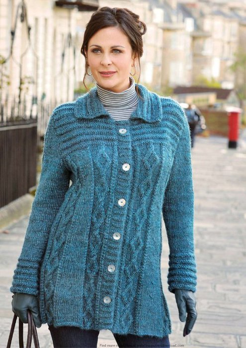 узоры для свитера спицами