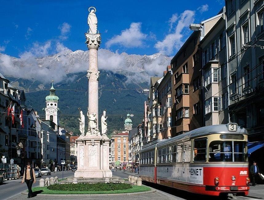Инсбрук, Австрия, улица Марии Терезы