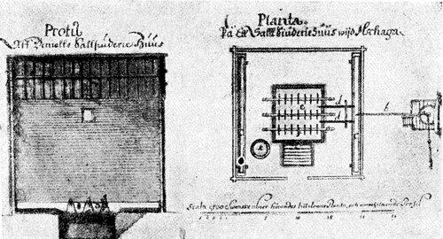 Рисунок 144. Профиль и план соляной варницы XVII века.