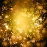 Yellow Glittery Snowflak Winter Background Free Photography All.