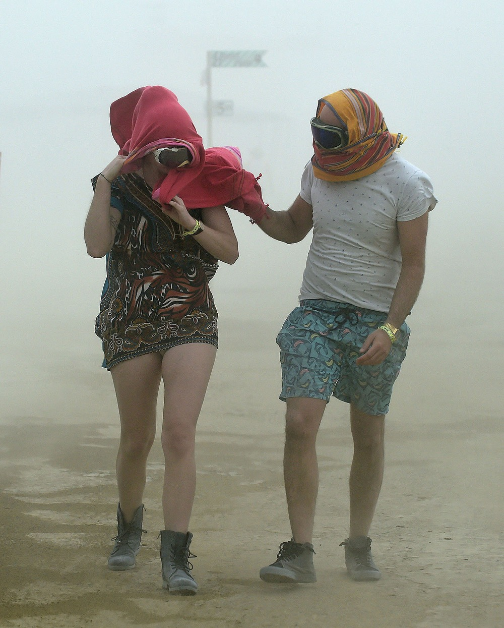 Burning Man dust storm