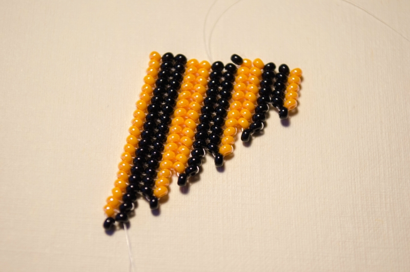 Схемы: Начало плетения косого края полотна ндебеле