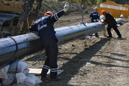 В августе компания «Газпром» приступит к строительству газопровода в Китай