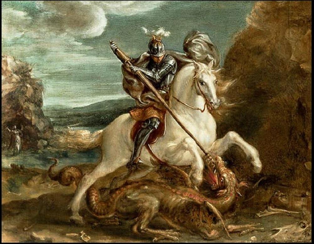 1590 Аахен Ханс Святой Георгий поражает дракона .jpg