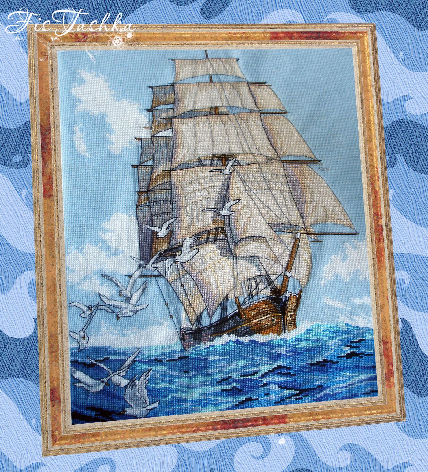 Набор для вышивания бисером Алые паруса 57200 Астрея Арт 88