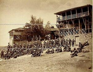 Группа Георгиевских кавалеров Лейб-гвардии Гусарского его величества полка.
