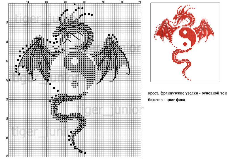 Вышивка крестом схемы как приручить дракона 65