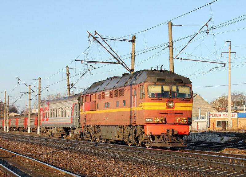 ТЭП70-0359 с поездом Ржев - Волоколамск