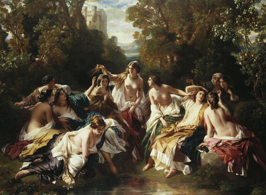 Винтерхальтер (1805-73) Флоринда  Подпись и дата тысячу восемьсот пятьдесят-два