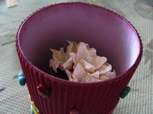 Задекорированная баночка из-под чая