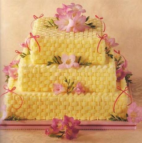 Свадебный торт-корзинка
