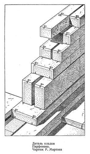 фрагмент кладки Парфенона