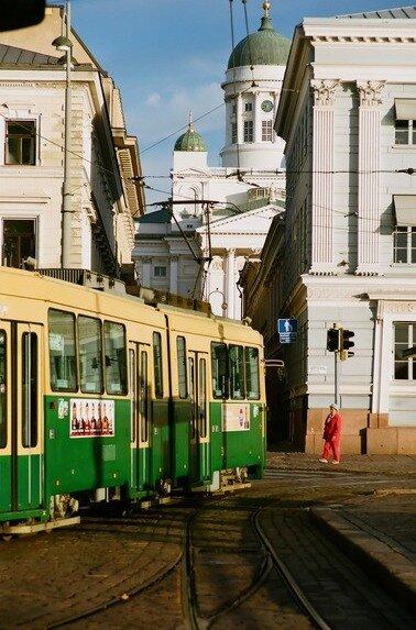 Утренний трамвай в Гельсингфорсе
