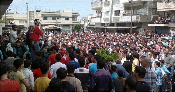 """Сирийский  """"День гнева """" прошел в 50 городах страны."""