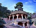 Наклонные колонны парка Гуэль. Испания. Барселона.