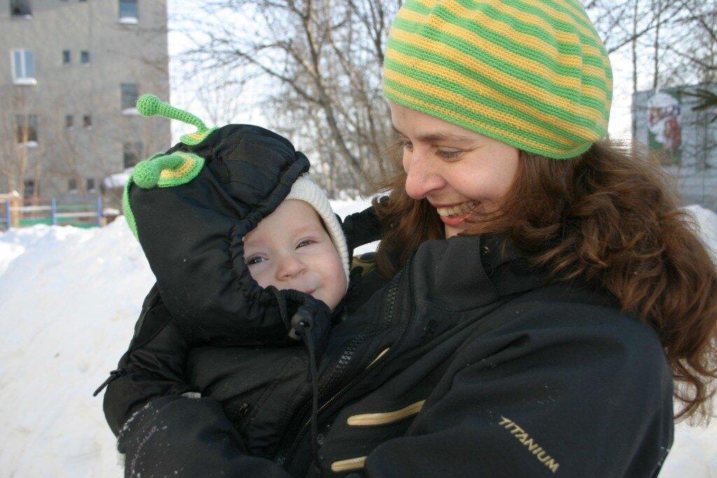 Мама Женя и сын Олежка (8 месяцев), г.Кемерово