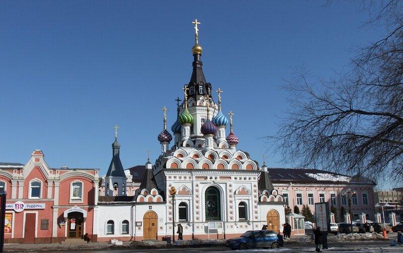 Утоли моя печали-православный храм в центре Саратова.