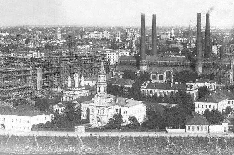 Вид с храма Христа Спасителя. 1928 г.