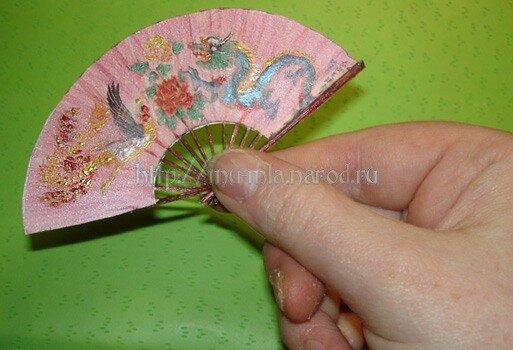 Сделать китайский веер мастер класс - Китайский веер своими руками M