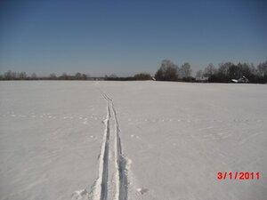 Март. Лыжня в весну.