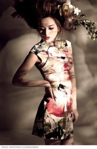 Китайские фотомодели.