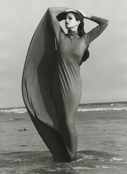 Photographer Herb Ritts.Cindy Crawford