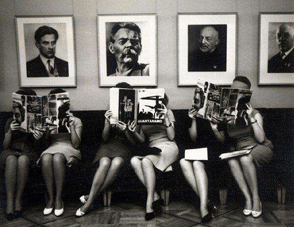 фото Валерия Генде-Роте.Писатели и читатели.1960-е