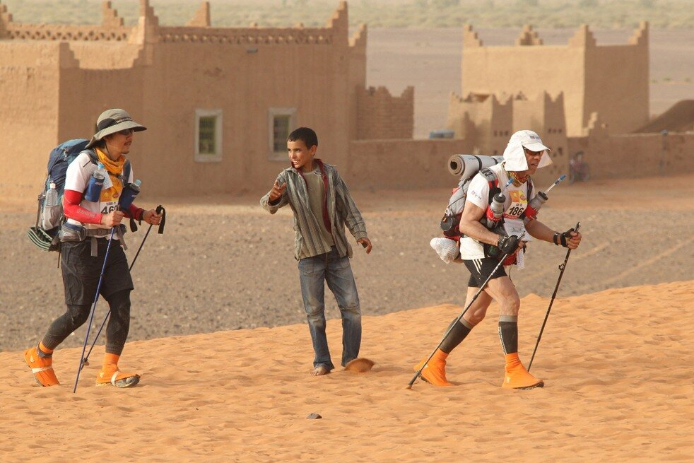 Марафон в Марокко MOROCCO-MARATHON-SAHARA-SAND