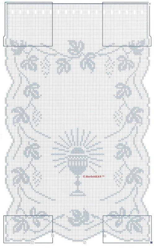 Филейным вязанием к пасхе