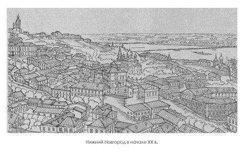 Нижний Новгород в начале XX в., панорама