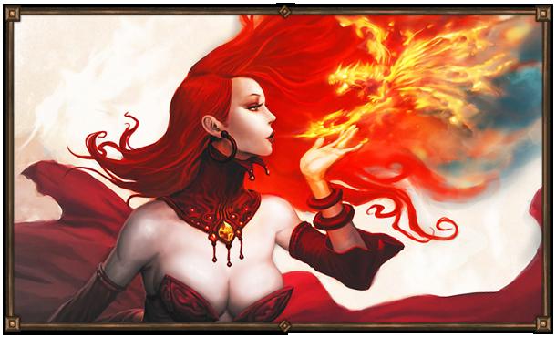 Айлей. Фламмора - богиня Огня. Покровительница роскошного образа жизни и дворянства