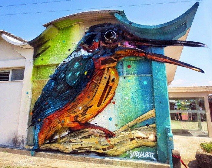 Уличный художник Bordalo II.